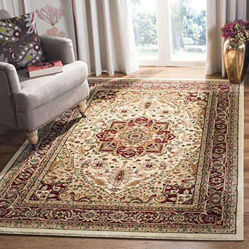 10 X 14 Persian Rug - Safavieh Lyndhurst Collection LNH330A Traditional Oriental Medallion Ivory and Red Area Rug (10' x 14')