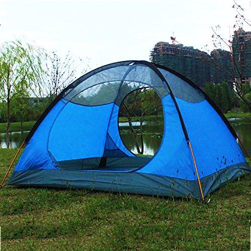 TY&WJ Familie Campingzelt Double Layer Kuppelzelte Aluminiumstab Regendichte Teepeefor Outdoor-sportarten Portable Faltung 3-4 Personen