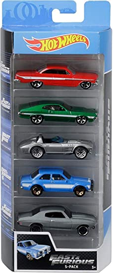 Hot Wheels - Fast and Furious Pack de 5 coches de juguete para ...