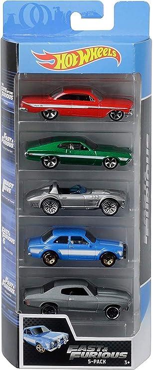 Hot Wheels - Fast and Furious Pack de 5 coches de juguete para niños +3 años (Mattel GGH46) , color/modelo surtido: Amazon.es: Juguetes y juegos