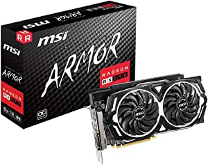 MSI Gaming Radeon Rx 590 256-Bit DP/HDMI/DVI 8GB GDRR5 HDCP Support DirectX 12 Dual Fan 2-Way Crossfire VR Ready Graphics Card (RX 590 Armor 8G OC)
