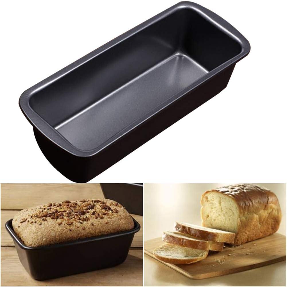 Moule /à g/âteau 19 x 6 x 9,5 cm Comme sur limage Forme rectangulaire Moule /à pain et /à pain en acier au carbone