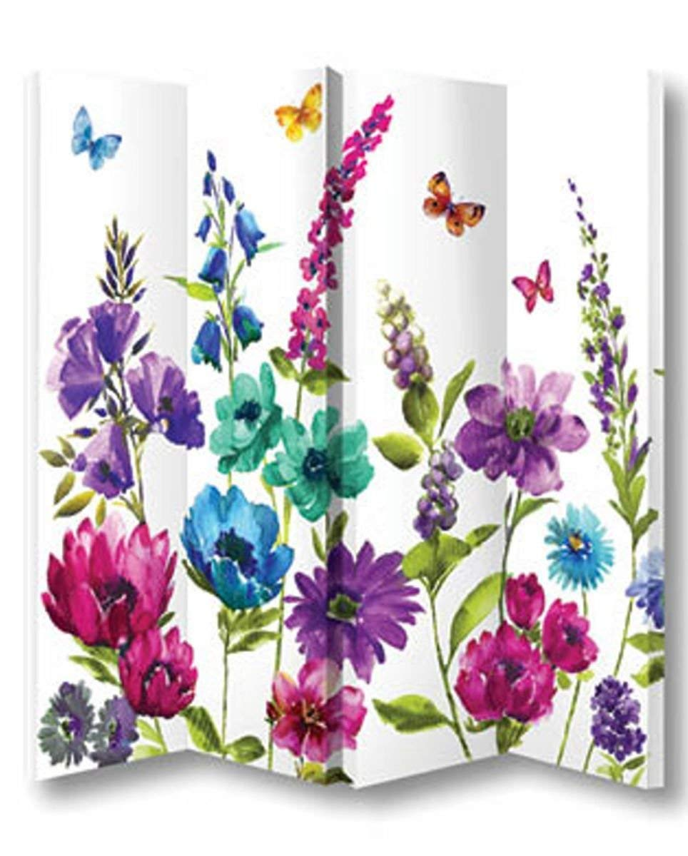 Arthouse Cottage Garden Screen, Polyester, Multi-Colour, 150 x 160 x 2.5 cm 008147