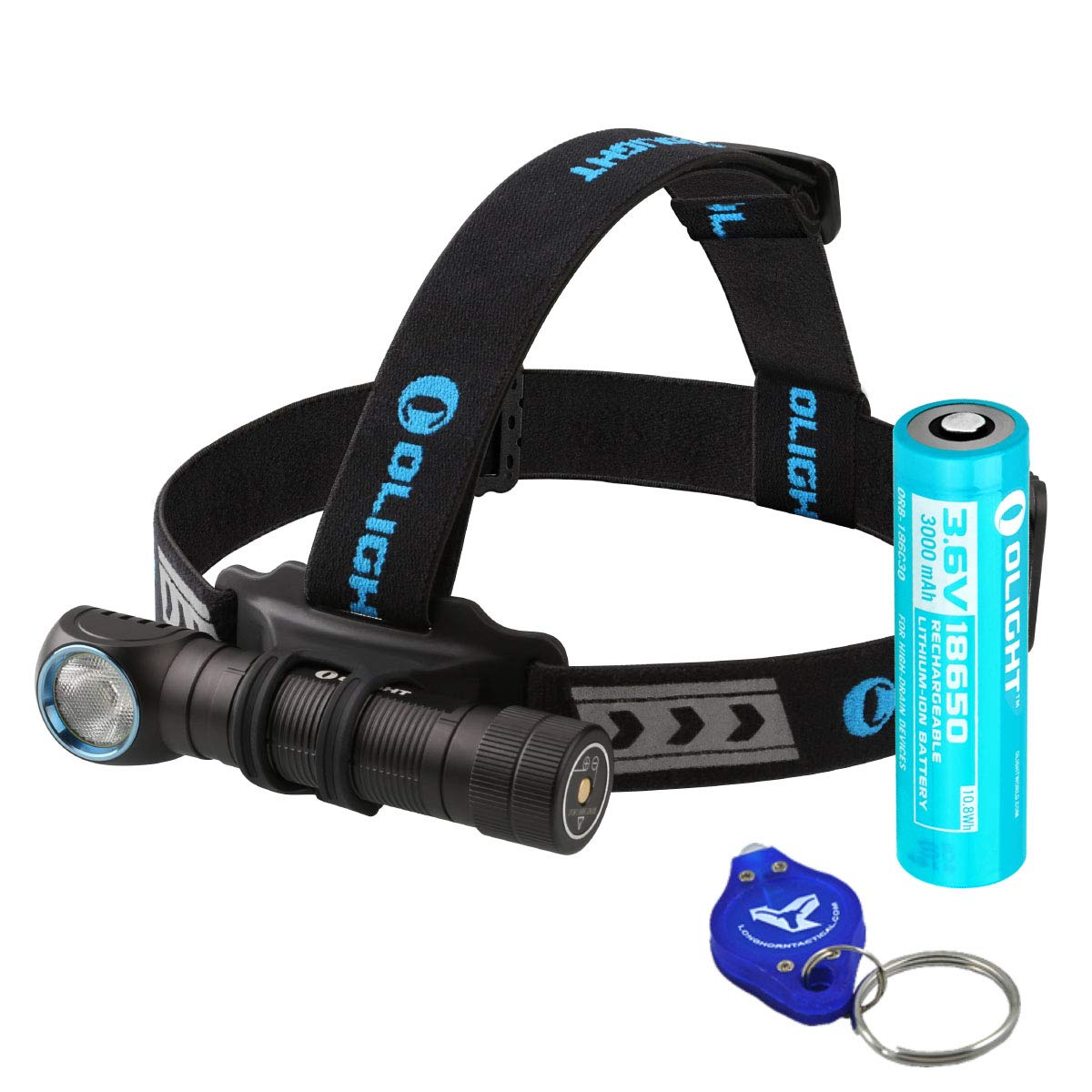 OLIGHT H2R LED Rechargeable Headlamp – Available in 2300 Lumens Cool White or 2000 Lumens Neutral White LED Plus Lumen Tactical LED Keychain Flashlight