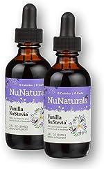 NuNaturals Plant Based Vanilla Stevia Extract Drops - All Natural Liquid
