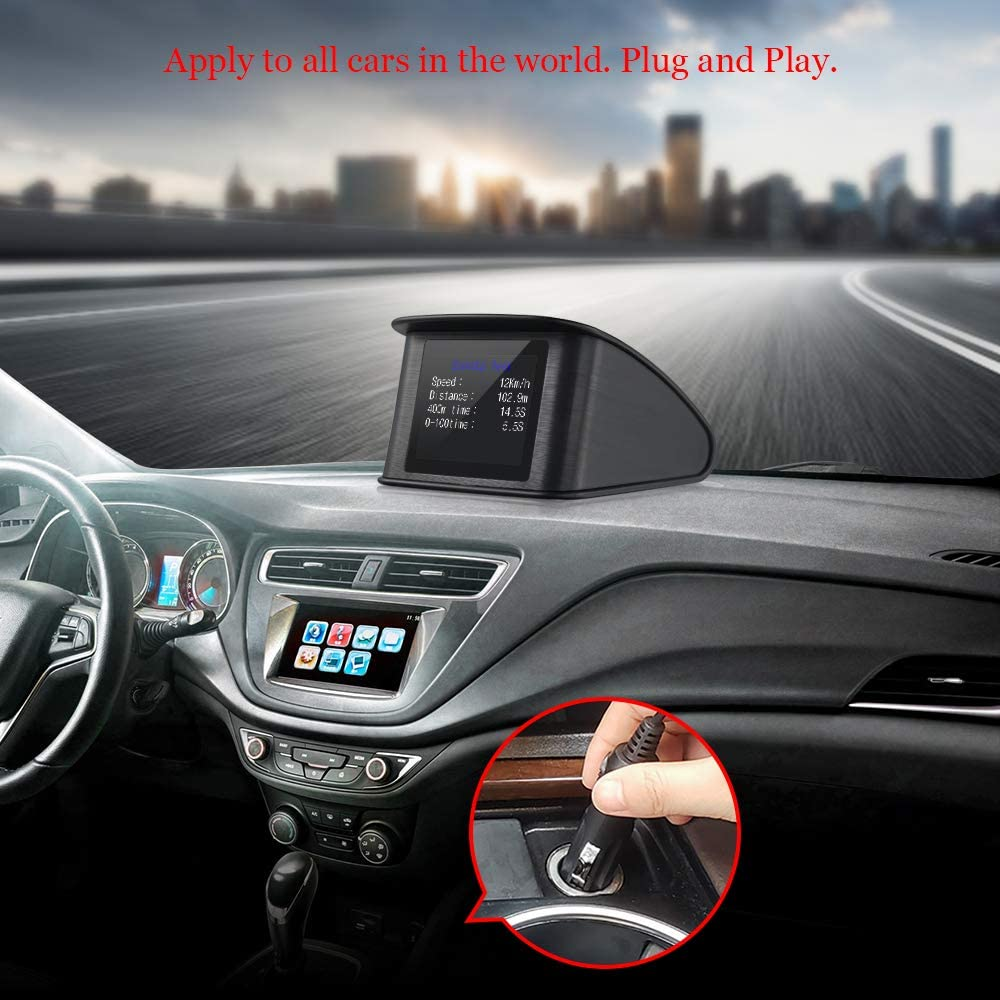 Voltage Mileage Speed Alarm RPM Water Temperature Fuel Consumption XYCING Car HUD Heads Up Display 5.8 inch OBD Digital Speedometer Windshield Projector OBD2 Vehicle Speed Dashboard Display MPH