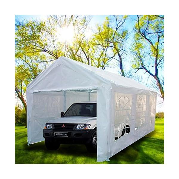 Peaktop 20'x10' Heavy Duty Portable Carport Garage Car ...