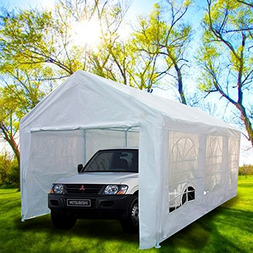 Peaktop 20'x10' Heavy Duty Portable Carport Garage Car Sh...