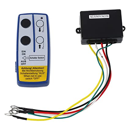 remote controller toogoo(r) wireless winch remote controller 12 v volt recovery 4x4 atv hand set hidden ignition kill switch 12 volt remote control switch tales