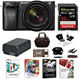 Sony α6300 Mirrorless Digital Camera (Black) with 18-135mm Lens and 32GB SD Card