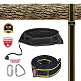 Tree swing hanging , Tree Swing Strap for Outdoor, 10ft Strap, Holds 3150 lbs(SGS Certified), Heavy Duty Carabiner Lock Screws, Genuine Quality   Easy & Efficient Now, it will be a more easy and safe way to install this timeless classic plaything...