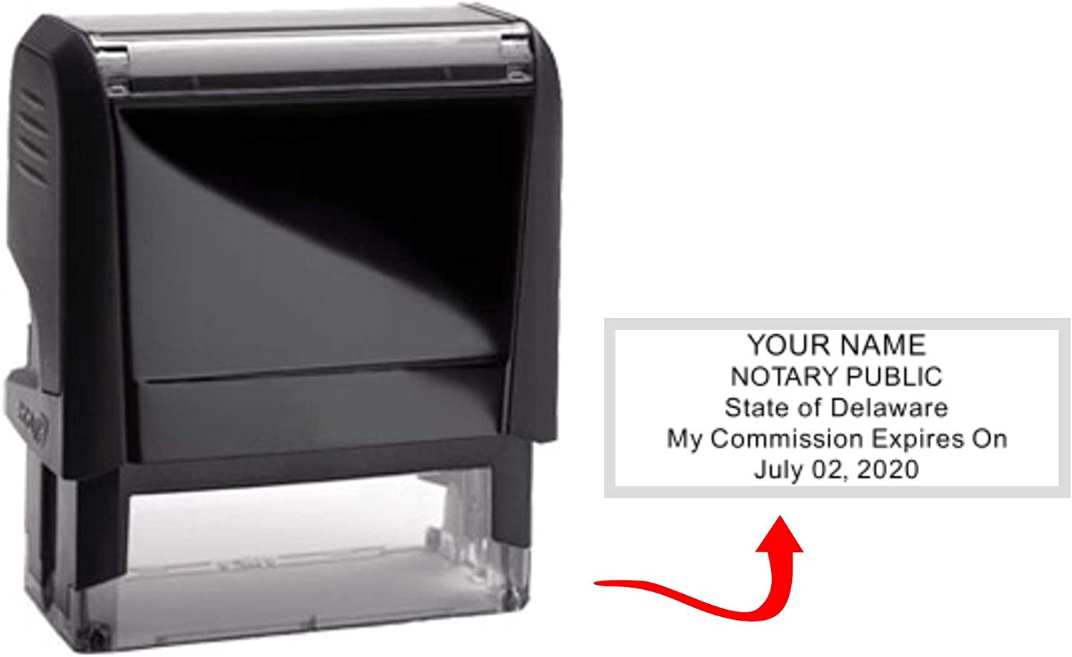 Self Inking Delaware Notary Stamp /& Seal Embosser Value Package