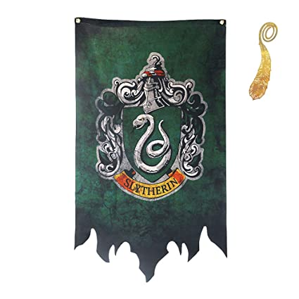 Harry Potter Banner - Gryffindor Slytherin Hufflepuff Ravenclaw House Flags Collection