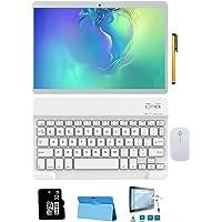 4G Tablet 10 Pollici con Wifi Offerte, 64GB, 3GB RAM Tablet con Tastiera Android 8.1 8MP Telecamera Dual SIM/WiFi/Google Play/Office/Netflix/GPS/OTG/Bluetooth Tablet PC Voukou (Oro)