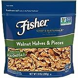 FISHER Chef's Naturals Walnut Halves & Pieces, No Preservatives, Non-GMO, 10 Ounce