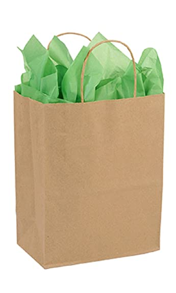 Bolsa de compras de papel kraft reciclado, tamaño mediano ...
