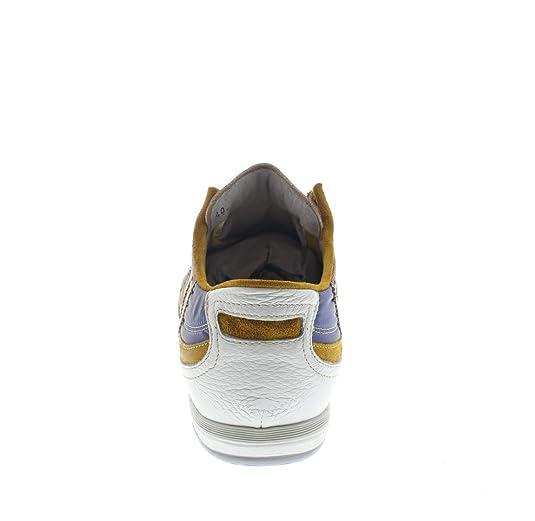 Sneakers Vitello E Tessuto Multiceleste IM3r342Gv