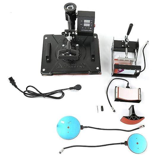 Impresora de transferencia de calor, 1450W 5-en-1 Máquina ...