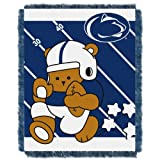 NCAA Penn State Nittany Lions Fullback Woven Jacquard Baby Throw Blanket, 36x46-Inch