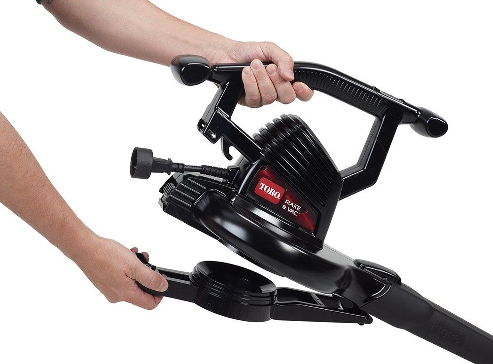 Toro 51617 Rake and Vac Leaf Blower Vacuum,, 2-speed up to 210 mph , 10.5 amp