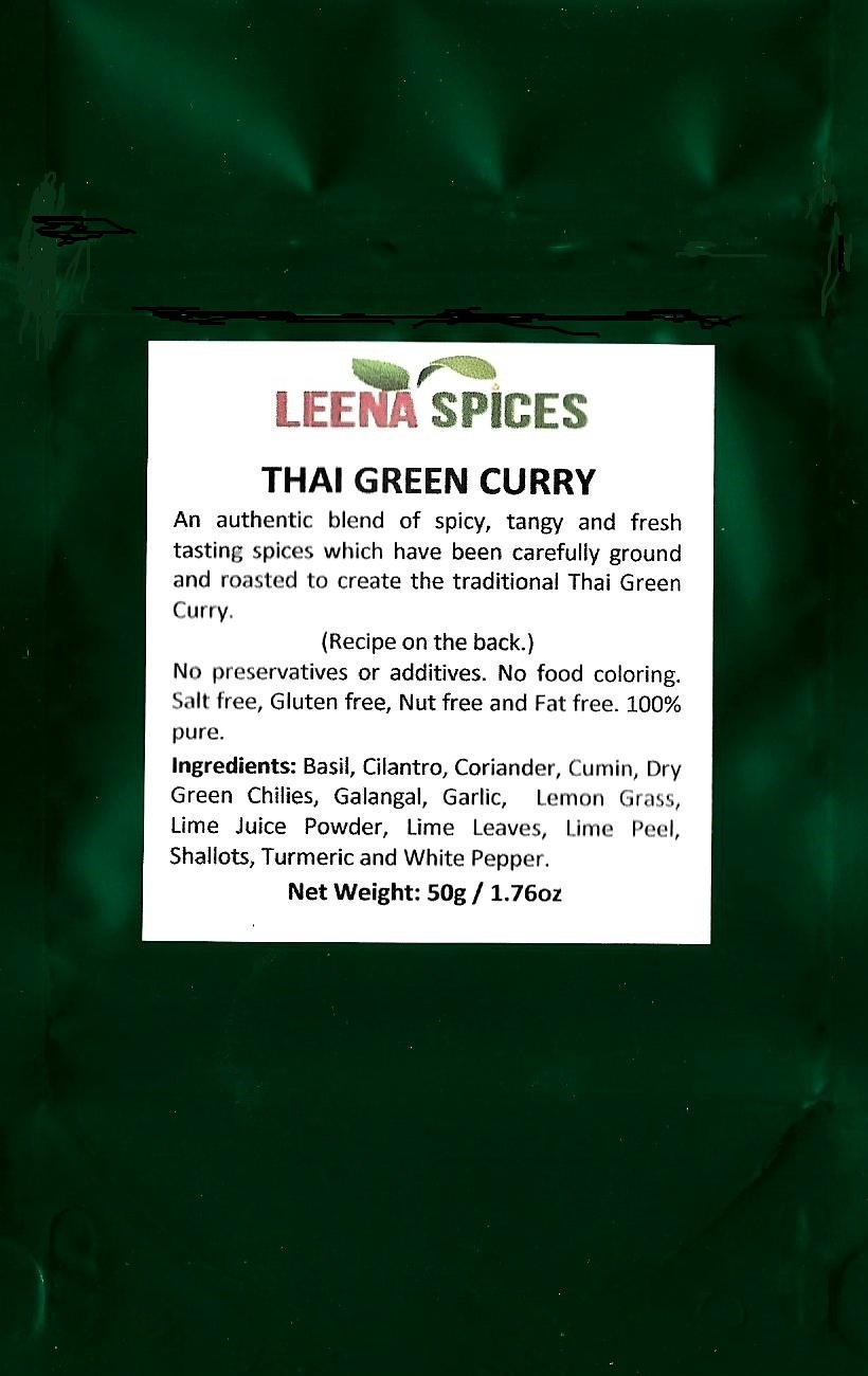 LEENA SPICES – 3 Three Thai Seasoning Packets – Green, Red And Yellow Spice – Gluten Free Curry Powder Blend – No Salt Or Color Mix – With Recipe – Enjoy Pure Quality Thai Food. by Leena Spices (Image #5)