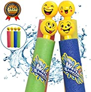 AnvFlik 4 Pack Safe Foam Noodles Pump Action Outdoor Water Guns for Kids and Adults Pool Beach Yard and Park P