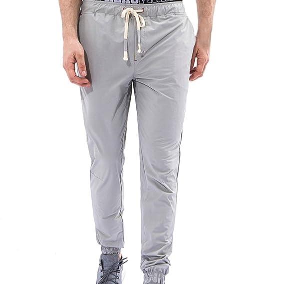 Moda Pantalones Deportivos Ajustados Pantalones Largos para Hombre Suelta Chándal con Bolsillos Fitness Joggings: Amazon.es: Ropa y accesorios