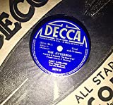 Rare 1939 Judy Garland Somewhere over the Rainbow b/w Jitterbug with Original Sleeve : Shellac 78 RPM Decca 2672 : Wizard of Oz : Comes with a CD Transfer