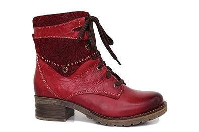 7d0c60d8f63a Dromedaris Womens Kara Print Red Boot - 38