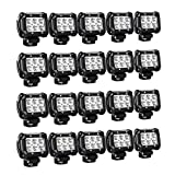 Nilight 20PCS 18W 4' 1260lm Spot Driving Fog Lights Off Road Led Light Bars Mounting Bracket SUV Boat Jeep Lamps, 2 Years Warranty