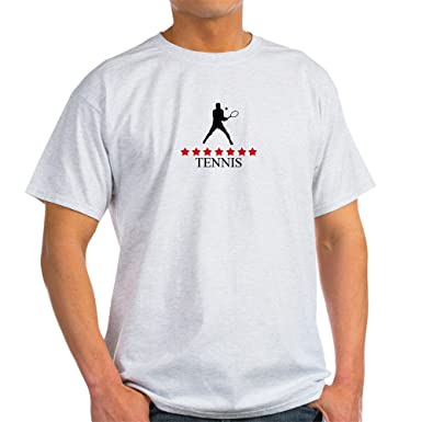 4d23f4eb67 Amazon.com: CafePress Mens Tennis (Red Stars) 100% Cotton T-Shirt ...