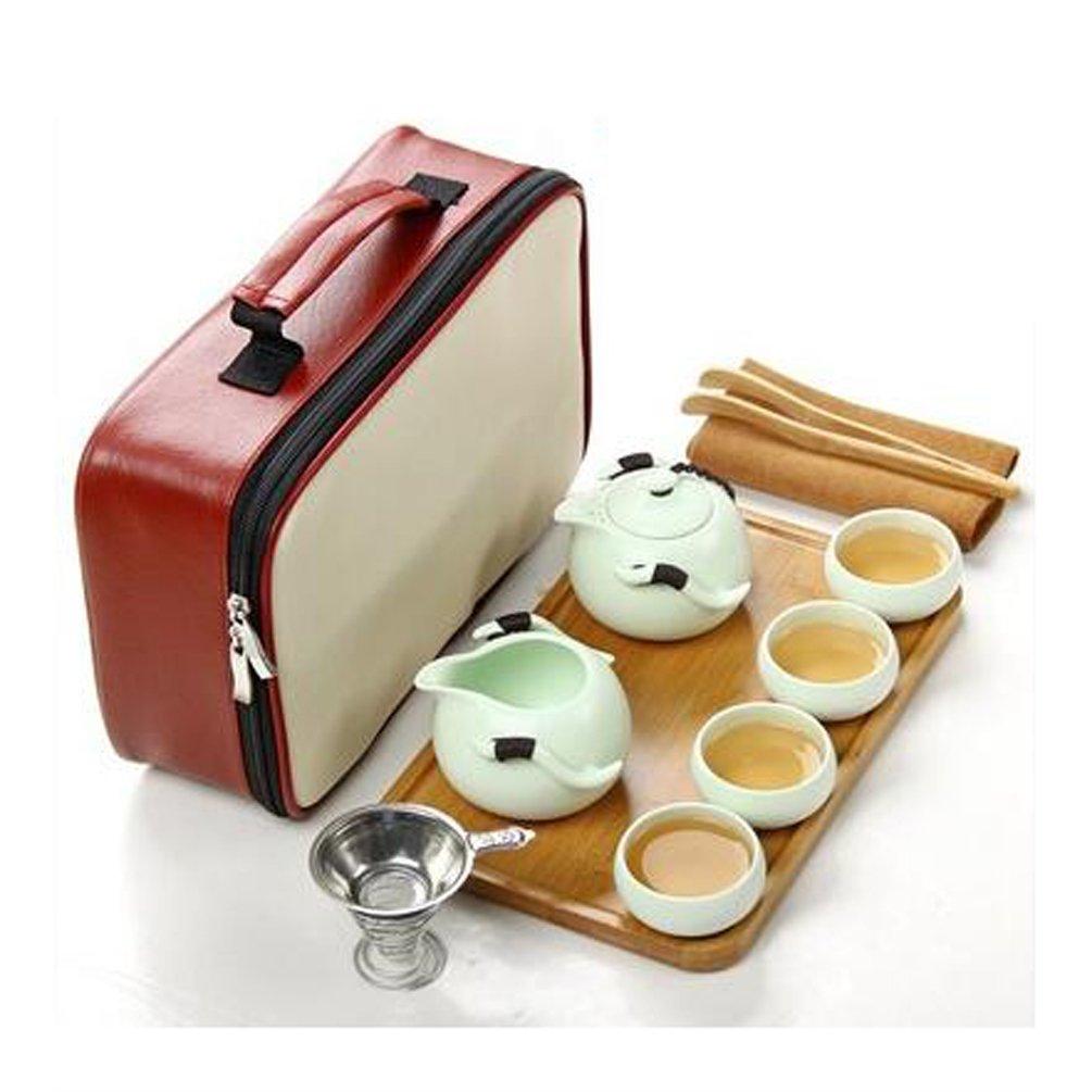 Noir Portable Th/éi/ère traditionnelle avec Tasses de th/é pour Kungfu th/é//th/é chinois//th/é japonais en Th/éi/ère en C/éramique chinoise 10//paquet tm T Tocas