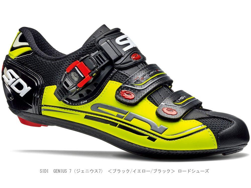SIDI(シディ) GENIUS 7(ジェニウス7) <ブラック/イエロー/ブラック 44> ロードシューズ   B076V218WG
