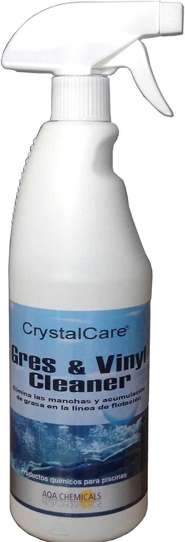 Gres & Vinyl Cleaner limpiador de línea de flotación en piscinas de gresite, liner-vinilo, pintadas y fibra de vidrio. Botella 750 ml