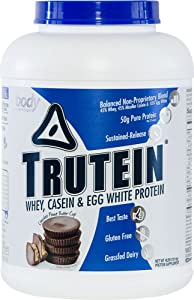 Body Nutrition Trutein Chocolate Peanut Butter 4lbs Protein Shakes/Shake, Meal Replacement Drink Mix, Post/Pre Workout Shake Powder, Breakfast Shake.