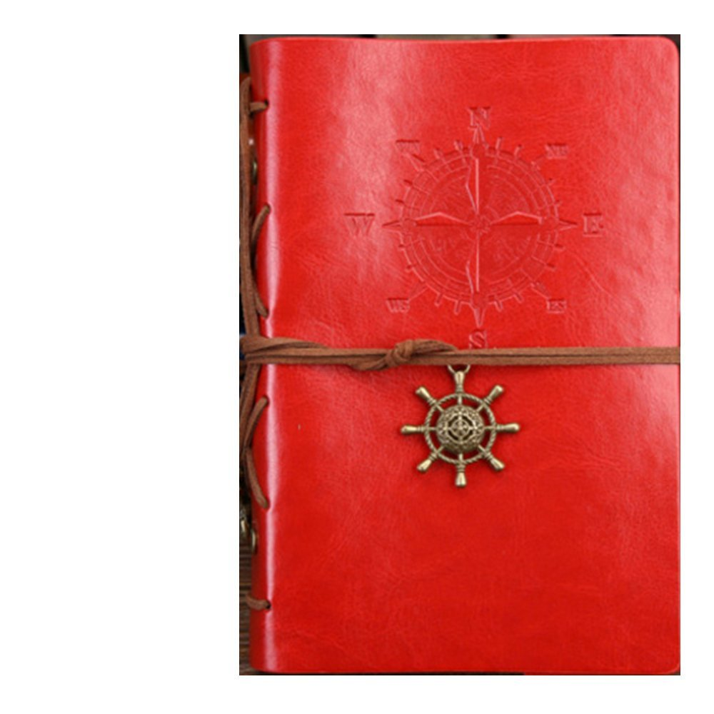 GN&LM Taccuino Diario A Spirale Per Notebook Notepad Vintage Pirate Anchors Cuoi