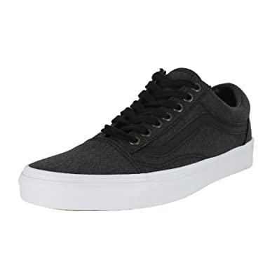 9ff765bb1a2 Image Unavailable. Image not available for. Color  Vans Mens Old Skool  Herringbone Black True White ...