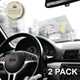 """RED SHIELD Universal Head Up Display HUD Reflective Windshield Film 7.5"""" for All Car Makes and Models. Premium Quality High Definition (HD) Clarity Film. Compatible with HUD Units & Smartphones [2 PK]"""
