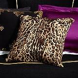 Ralph Lauren Home Keeley Ocelot Leopard Print Fur Throw Pillow