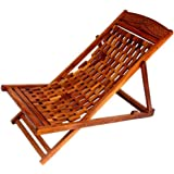 Crafts A To Z Folding Garden Easy Chair In Sheesham Wood
