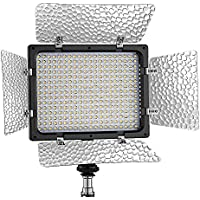 Bestlight® W300II 3200~6000K LED Dimmable Barndoor Light Continuous Output Lighting Panel Video Light with Filters for Sony,Canon,Panasonic,Hitachi,Samsung and Other Digital Cameras
