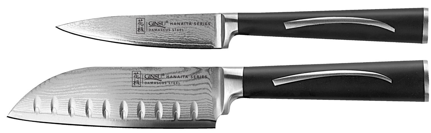 Damascus Series 5'' Santoku & 3.5'' Paring Knife Set by Ginsu