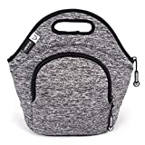 LunchFox Neoprene Lunch Bag, Ultra-Thick Insulated, Heather Grey Melange - The Silver Lake