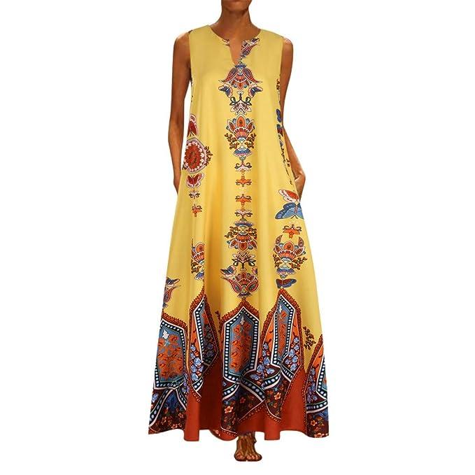 Vestido de Talla Grande Africana para Mujer Maxi Vestido sin ...
