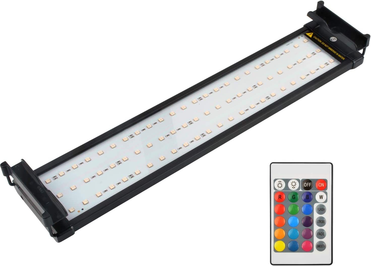 14 Watts NICREW Aquarium LED Light Dimmable RGB Fish Tank Light with Remote for Freshwater 20 to 27-Inch