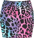 WearAll Women's Print Mini Skirt - Turquoise/Cerise Animal - 8-10
