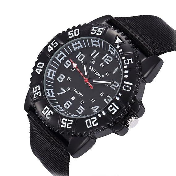 XinFang Hombres Reloj Digital Moda multifunción Resistente al Agua Bisel Redondo Dail Banda de Nylon Deporte Relojes de Pulsera para niños Reloj Despertador ...