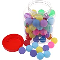 60Pcs Plastic Table Tennis Ping-Pong Balls Multicolor 40mm