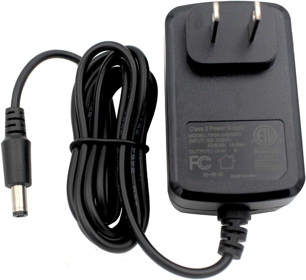 HY1C AC/DC 24V 1A Power Supply Cord Adapter, 24 Volt 1 Amp 24watt US Universal Wall Plug Class 2 Charger, DC Plug 5.5x2.1mm