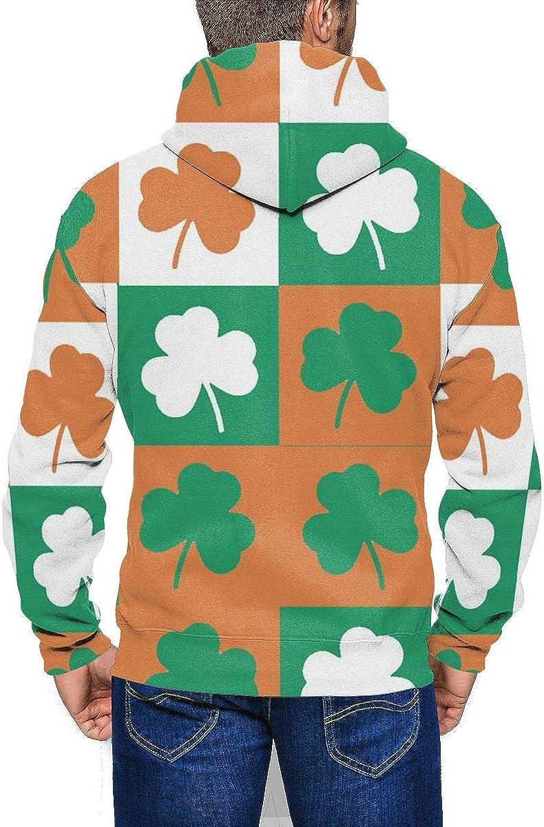 Shamrock Wild Zip-up Sweatshirt Hoodie Kangaroo Pocket for Mans